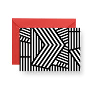 Folded Notecard Black Wayfinder Folded Notecard Set