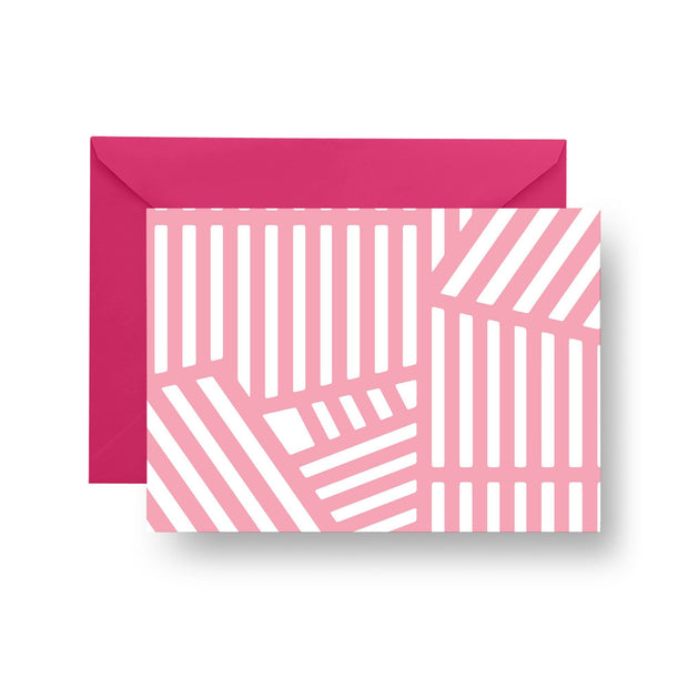 Folded Notecard Pink Wayfinder Folded Notecard Set