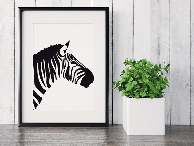 Gallery Prints 5x7 / Black Zebra Print