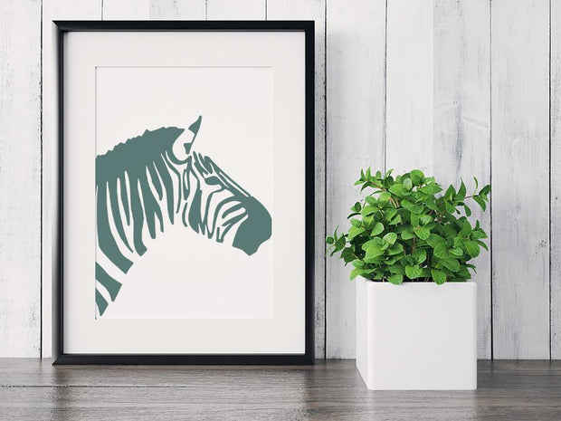 Gallery Prints 5x7 / Green Zebra Print