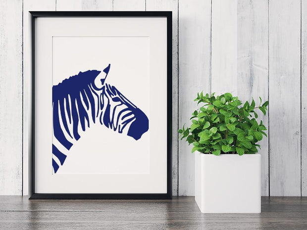 Gallery Prints 5x7 / Navy Zebra Print