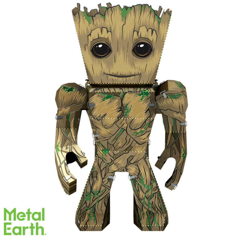 Metal Earth Legends Mini Caricature Model - Groot
