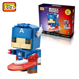 LOZ Diamond Blocks Brick 'H'eadz 142 piece Mini Block Set - Captain America