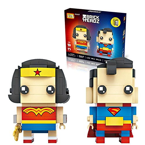 LOZ Mini Block Character Series Superman and Wonder Woman 1701