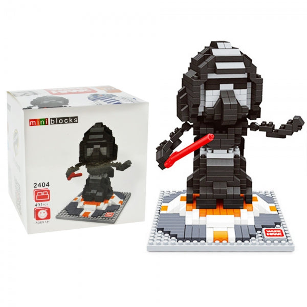 Wise Hawk Mini Nano Blocks Star Wars 491 Piece Building Set - Darth Vader