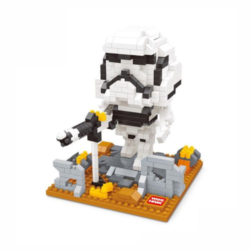 Wise Hawk Mini Nano Blocks Star Wars 522 Piece Building Set - Storm Trooper