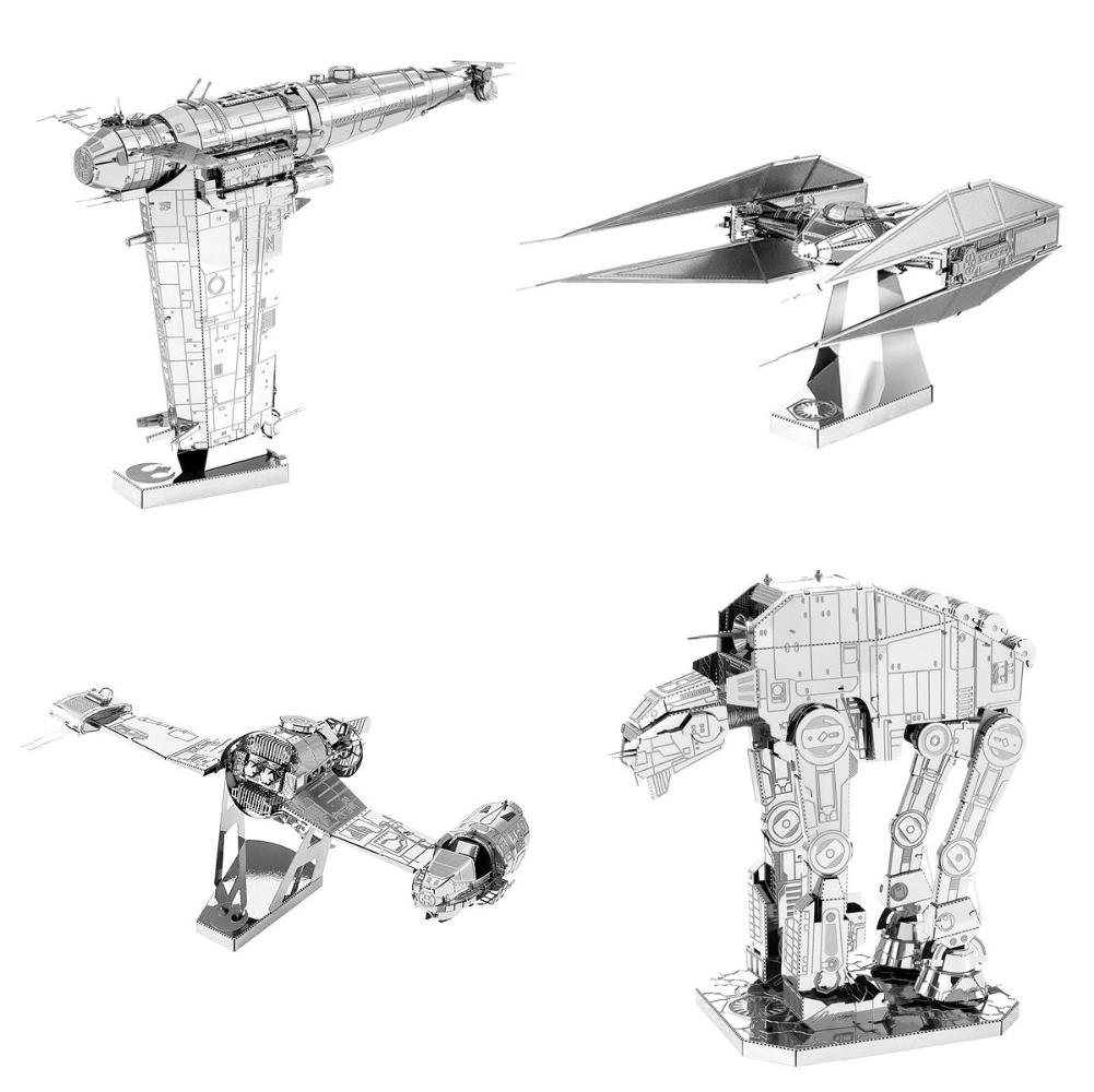 Fascinations Metal Earth 3D Laser Cut Models Star Wars Last Jedi - Set of 4