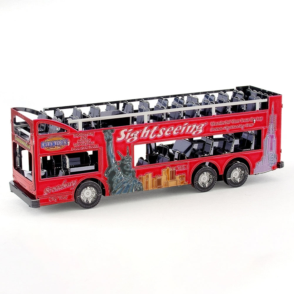 Metal Earth 3D Laser Cut Model Kit - Big Apple Tour Bus NYC