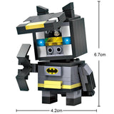 LOZ Diamond Blocks Brick 'H'eadz 157 piece Mini Block Set - Batman