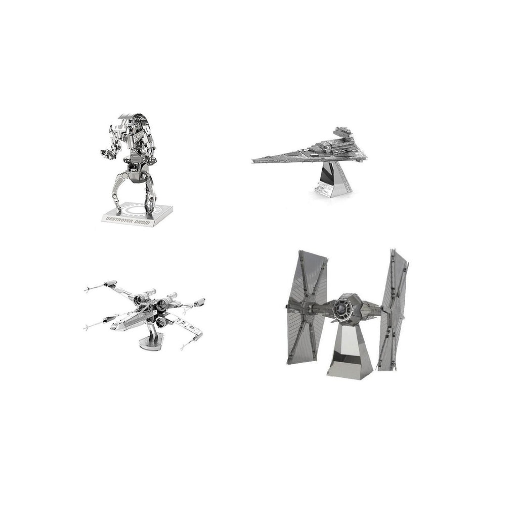 Star Wars Metal Earth 3D Laser Cut Model Kits Trilogy SET of 4