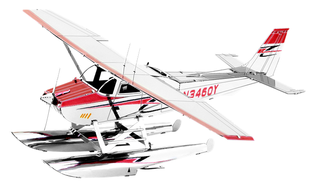 Metal Earth 3D Laser Cut Model Cessna 182 Floatplane