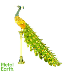 Metal Earth ICONX 3D Laser Cut Full Color Model Kit Peacock