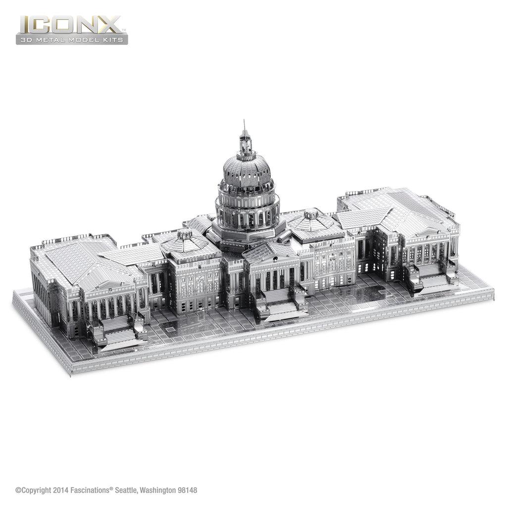 Fascinations Metal Earth 3D ICONX Laser Cut Model US Capitol Building