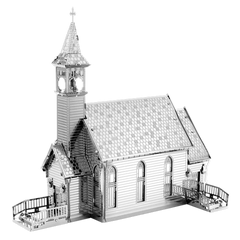 Metal Earth 3D Laser Cut Model Kit Old Country Church