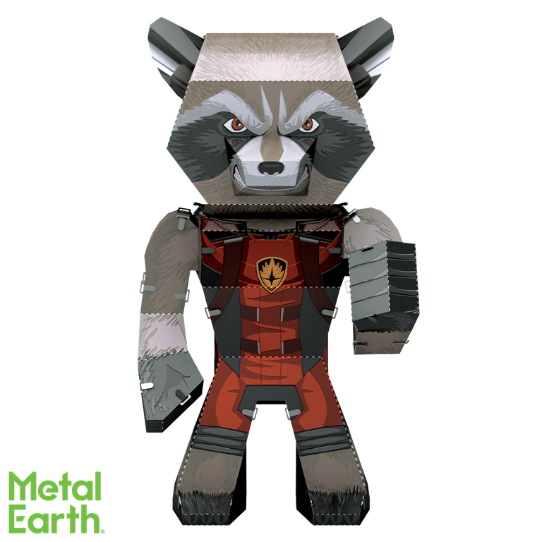 Metal Earth Legends Mini Caricature Model - Rocket
