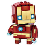 LOZ Diamond Blocks Brick 'H'eadz 144 piece Mini Block Set - Iron Man