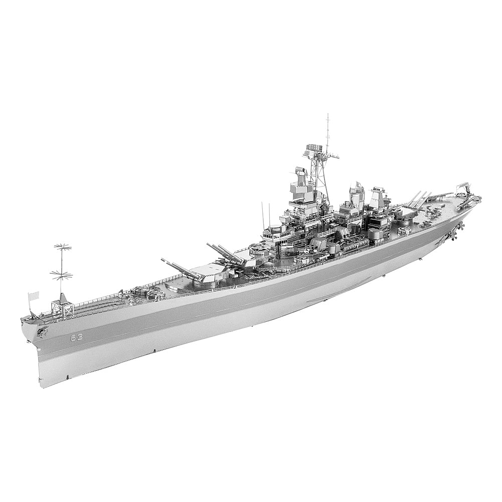 Fascinations Metal Earth 3D ICONX Laser Cut Model USS Missouri (BB-63)