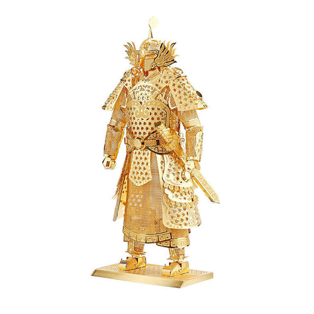 Piececool 3D Laser Cut Steel Model Building Kit - Warrior's Armor (Gold)