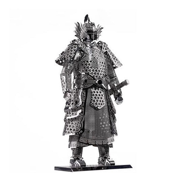 Piececool 3D Laser Cut Steel Model Building Kit - Warrior's Armor (Silver)
