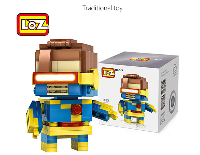 LOZ Diamond Blocks Brick 'H'eadz 162 piece Mini Block Set - Cyborg
