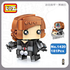 LOZ Diamond Block BrickHeadz 181 pcs Super Hero Series Black Widow 1420