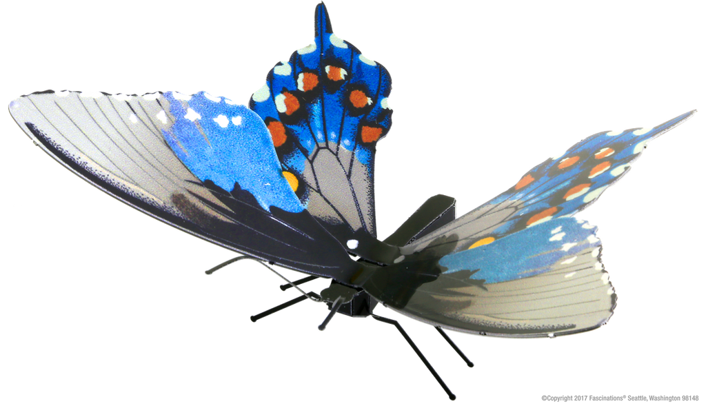 Metal Earth 3D Laser Cut Model Kit Butterfly - Pipevine Swallowtail