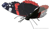Metal Earth 3D Laser Cut Model Kit Butterfly - Red Admiral