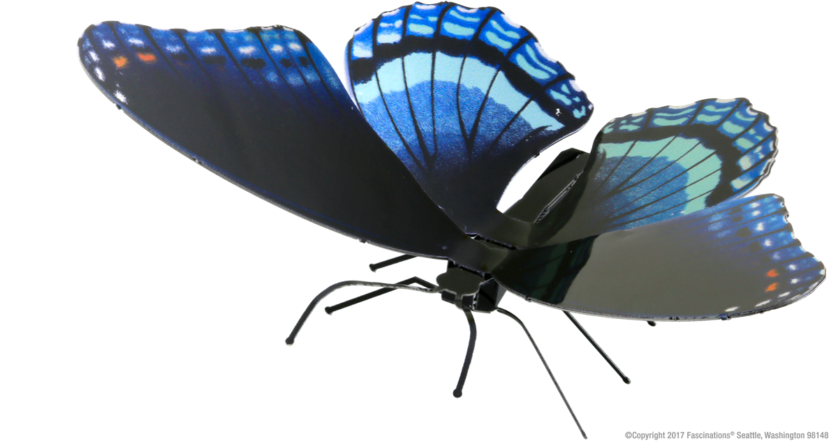 Metal Earth 3D Laser Cut Model Kit Butterfly - Red Spotted Purple