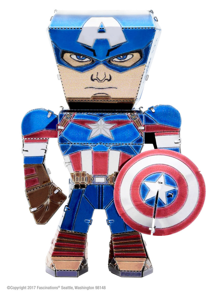 Metal Earth Legends Mini Caricature Model - Captain America