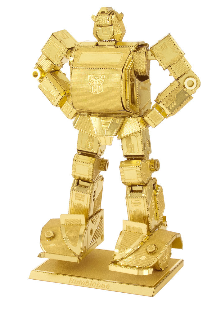 Metal Earth 3D Laser Cut Transformers Model Kit - Bumblebee GOLD Version