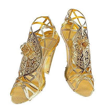 Piececool 3D Laser Cut Steel Model Building Kit - Golden High Heeled Sandals
