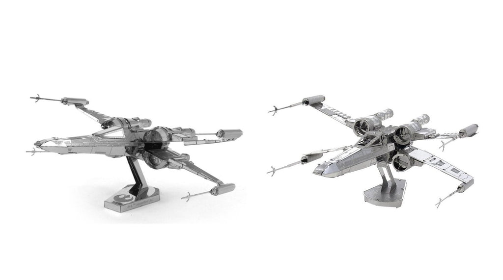 Metal Earth Star Wars 3D Model Kits Set of 2 - Classic X-Wing and Poe Dameron X-Wing