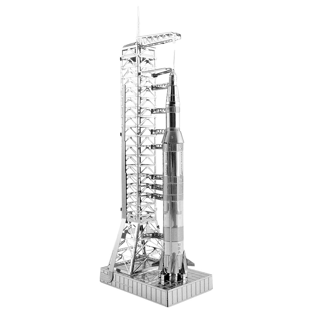 Metal Earth 3D Laser Cut Model Apollo Saturn V with Gantry