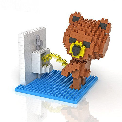 LOZ Diamond Blocks Gift Series Nano Block 350 Piece Building Set - Peeing Bear