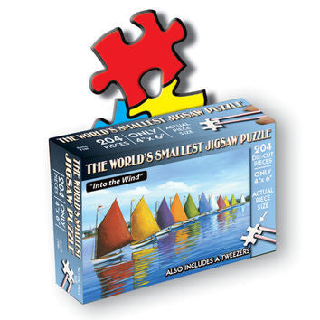 TDC Puzzles World's Smallest Jigsaw Puzzle Sailboats Into The Wind
