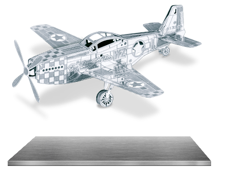 Metal Earth 3D Models Avro Lancaster Bomber AND P51 Mustang WWII Airplanes SET 2