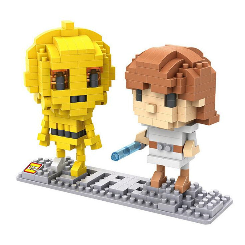 LOZ Diamond Blocks Star Wars Gift Series Nano Block 370 Piece Building Set of 2 - C3PO