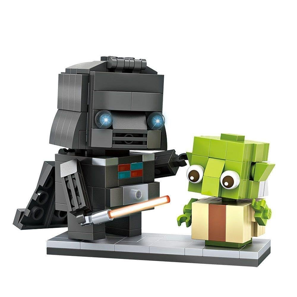 LOZ Diamond Block Brick 'H'eadz - Darth Vader + Yoda
