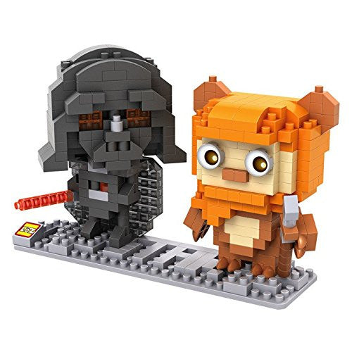 LOZ Diamond Blocks Star Wars Gift Series Nano Block 400 Piece Building Set of 2 - Darth Vader