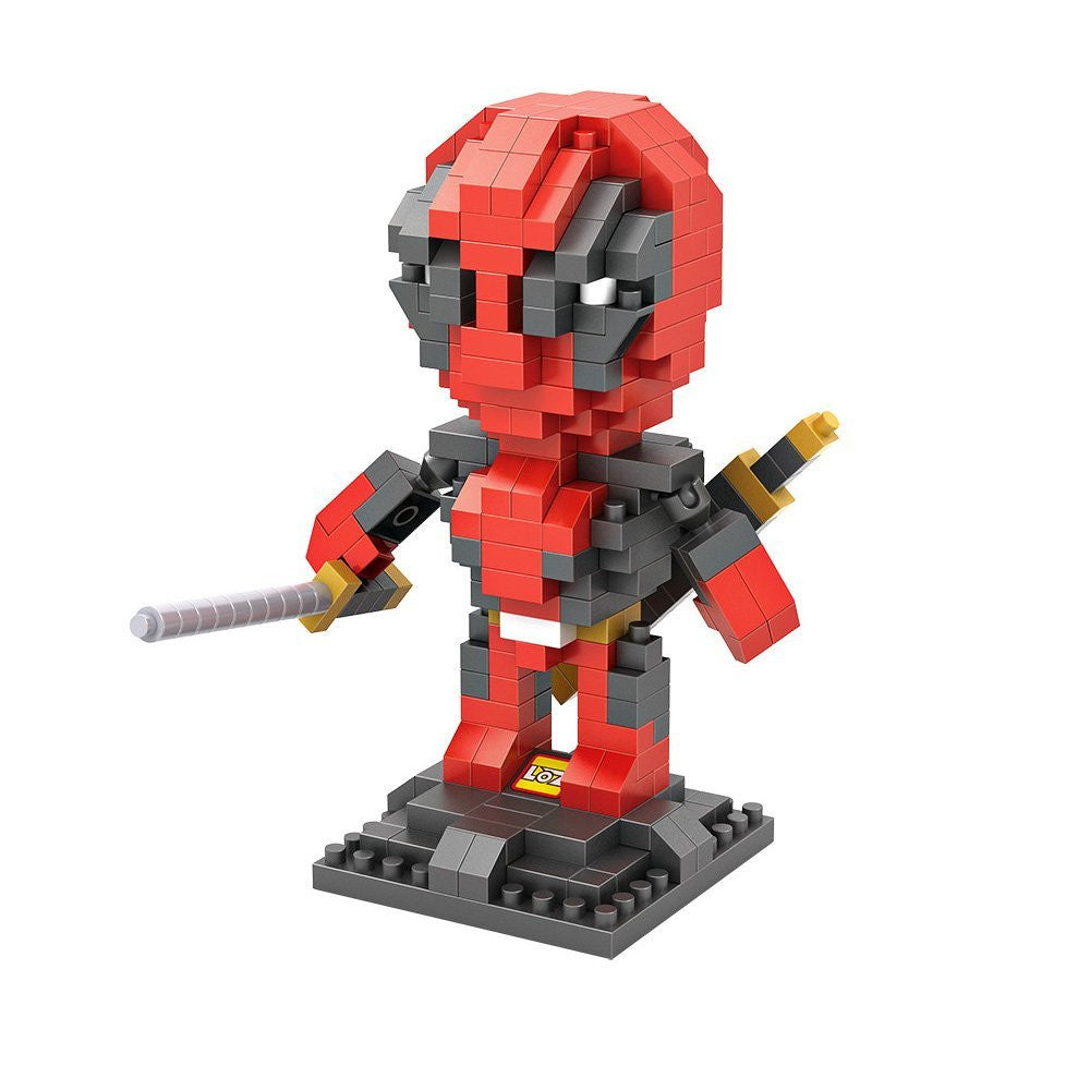 LOZ Diamond Blocks Gift Series Nano Block 280 Piece Building Set - Deadpool