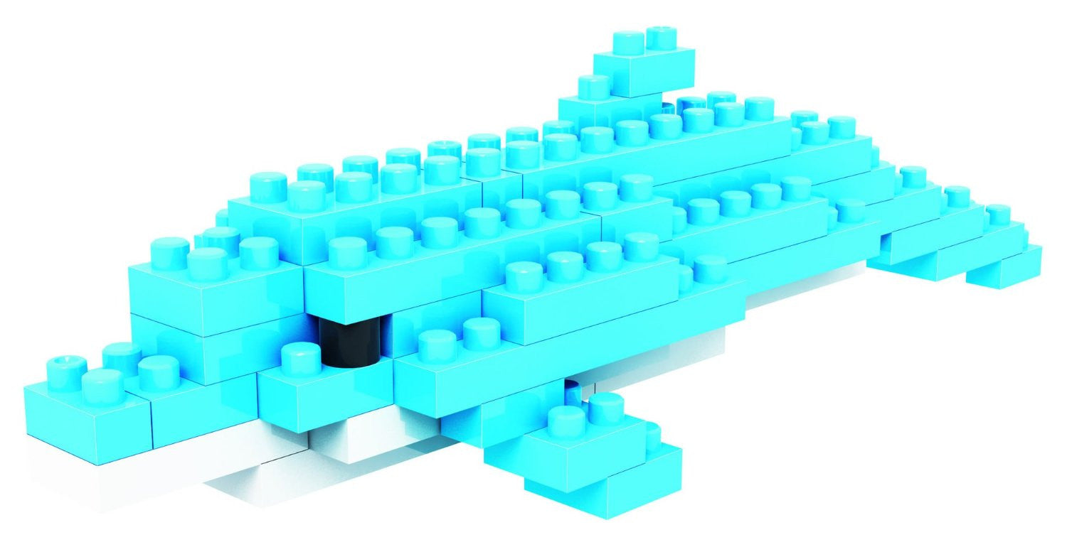 LOZ Diamond Blocks Gift Series Nano Block 39 Piece Building Set - Dolphin