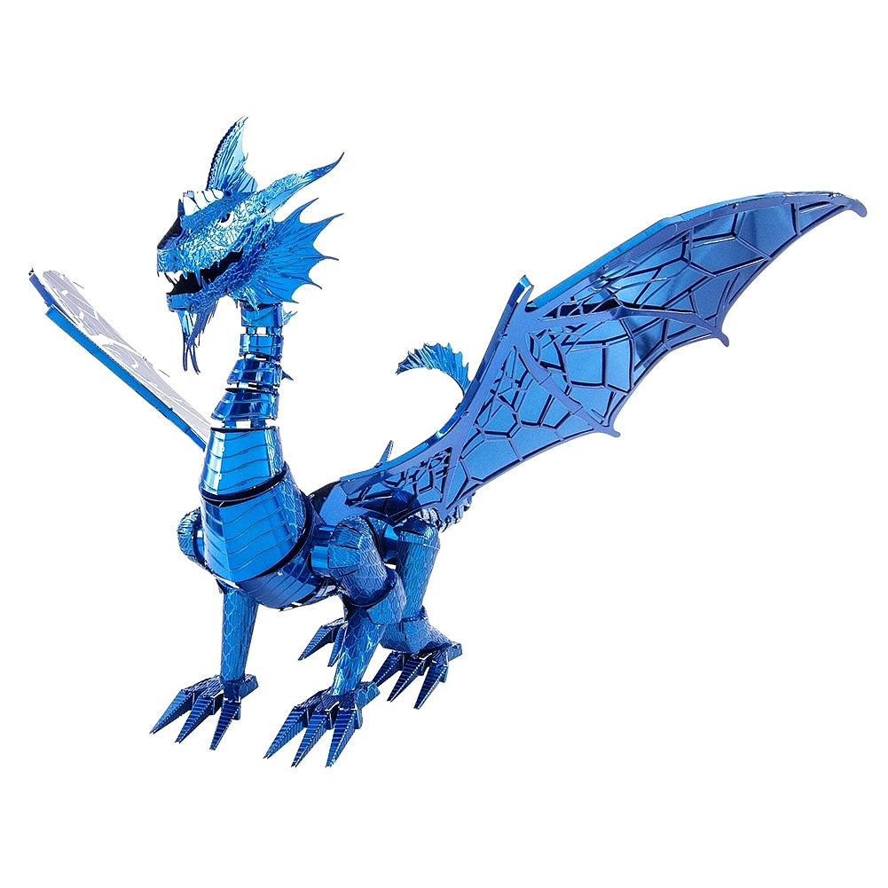 Metal Earth ICONX 3D Laser Cut Model Kit Blue Dragon