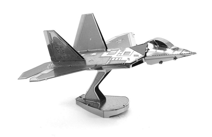 Metal Earth 3D Laser Cut Model F-22 Raptor Jet Plane