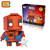 LOZ Diamond Block Brick 'H'eadz 145 piece Mini Block Set - Spiderman