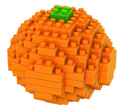 LOZ Diamond Blocks Gift Series Nano Block 120 Piece Building Set - Orange