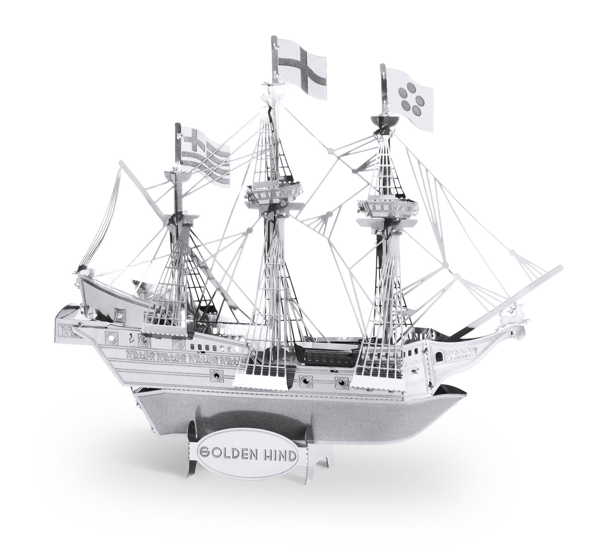 Metal Earth 3D Laser Cut Model Golden Hind Ship Boat
