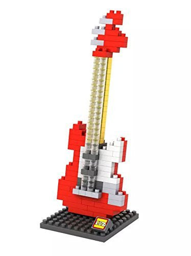 LOZ Diamond Blocks Gift Series Nano Block 150 Piece Building Set - Electric Guitar