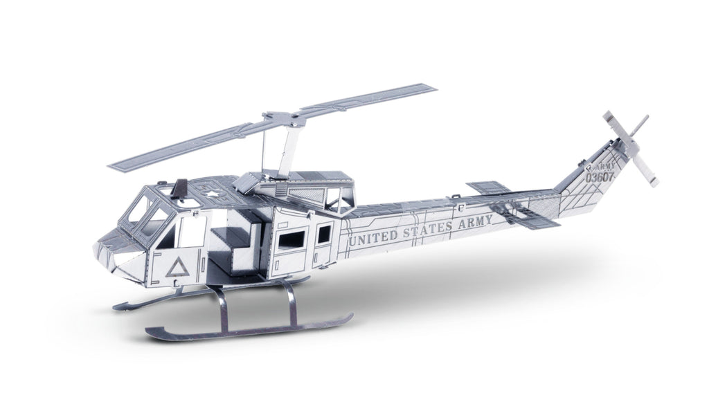 Metal Earth 3D Laser Cut Model Huey UH-1 Military Helicopter