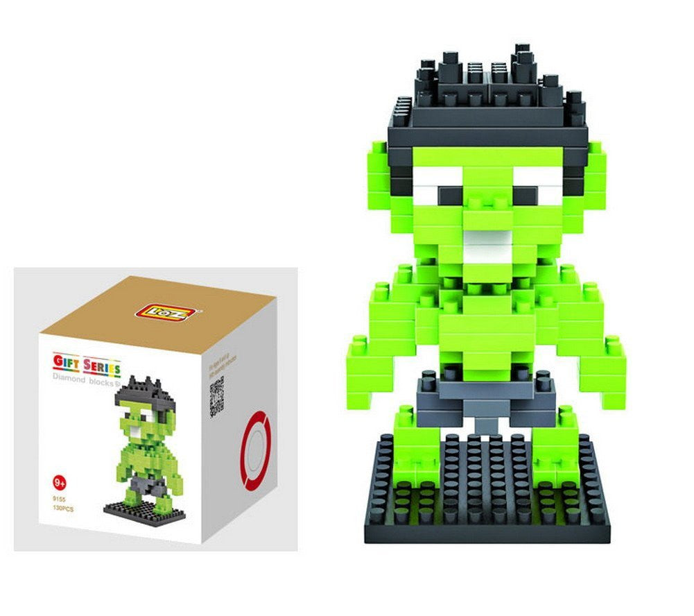 LOZ Diamond Blocks Avengers Gift Series Nano Block 130 Piece Building Set - Incredible Hulk