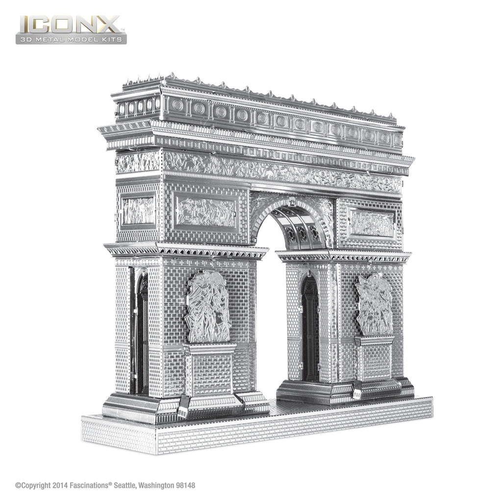Fascinations Metal Earth 3D ICONX Laser Cut Model Arc de Triomphe